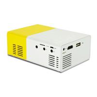 support de la télécommande usb pc achat en gros de-YG300 LED Projecteur Portable 400-600LM 3.5mm Audio 320 x 240 Pixels YG-300 Mini Projecteur USB HDMI Home Media Player en stock