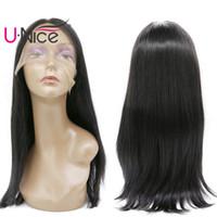 Wholesale long lace front wigs cheap - UNice Hair Straight Long Human Hair Lace Front Wigs Cheap 100% Human Hair Wig For Black Women #1 #2 #4 Wigs Wholesale Silk