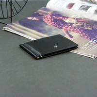 Wholesale wallets clips resale online - Wallet for Credit Cards Mens Wallet Leather Genuine High Quality Wallets with Card Holder Money Clip New Men s Purse luxury Simple