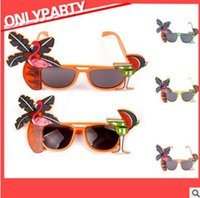 Discount photobooth glasses prop - Party Glasses Flamingo Bench Glasses Holiday Hawaiian Beach Sunglasses Eyewear Photobooth Props Party Supplies Pineapple Coconut glass YL30