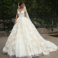 Jark Tozr Robe Princesse Mariage Lace Inside Vintage Ball Gown Wedding Dresses Long Sleeve 2019 Illusion Back Traje De Novia Wedding Dresses