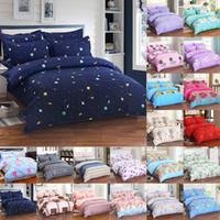 edredones de envío gratis al por mayor-Conjuntos de ropa de cama de flores 4 unids / set Lujo 3D Impreso Funda Nórdica Fundas de Almohada Home Bedding Supplies Regalo de Navidad Envío Gratis WX9-1033