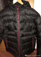 ingrosso acquisto di cappotti invernali-Acquista Piumini invernali da uomo Brand Design Warm Warm Felpa con cappuccio per uomo Fashion Anorak Plus Size Coats Cheap Sale