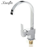 Wholesale Polished Brass Bathroom Lighting - Xueqin Chrome Brass Swivel Kitchen Water Faucet Tap Spout Single Handle Bathroom Basin Mixer Tap Mixing Faucets