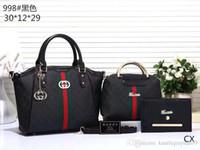 ingrosso borse trapuntate di cotone-trasporto libero di cuoio delle donne di modo di alta qualità borsa doppio lembo Tracolle Quilted tote catena di borsa della borsa del portafoglio con tag A09