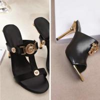 talons aiguilles confortables achat en gros de-Nouveau stiletto chaussures pour femmes mode polyvalent sandales confortables chaussures de style top luxe femmes (avec boîte)