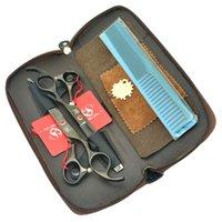profesyonel saç kesme makası setleri toptan satış-7.0 Inç Meisha JP440C Profesyonel İnsan Saç Kesme Makas 6.5 Inç Salon Saç İnceltme Makası Kuaförlük Tijeras Seti HA0361