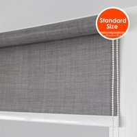 Wholesale Big Contract System Sunscreen Soil Linen Texture Roller blinds High Quality mm Stronger tube for big windows Standard Size