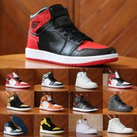 Wholesale nylons toe - 2018 New 1 High OG Game Royal Banned Shadow Bred Toe Basketball Shoes cheap Men 1s Shattered Backboard Silver Medal Sneakers High Quality