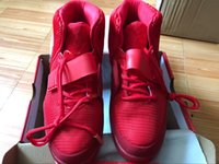 Wholesale trendy spring shoes - 2016 Man and Women 2 Red October West Trendy shoes sneakers basketball shoes size eur 36-47 Sports Shoes