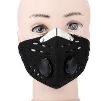 máscaras de filtro de motocicleta al por mayor-Máscara anti polvo antideslizante deportivo Protección de media cara contra el carbón activado Máscara facial Filtro Ciclismo Bicicleta Bicicleta Motocicleta