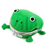 Wholesale frog wallets - Children Frog Coin Purse cartoon Anime cosplay frog wallet kids cute Personality Purse C4093