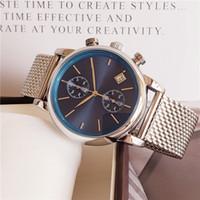 relógios de borracha venda por atacado-Mens Relógios Top Marca de Luxo chefe Relógios Famosos Moda Casual Homens De Couro Relógios Relógio de Quartzo Homens Relógio Relogio masculino Transporte da gota