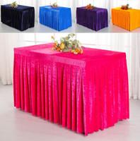 gelbe hochzeit liefert großhandel-Rechteck Tisch Rock Polyester Hochzeit Bankett Tischabdeckung Hause Tischdecke für Hotel Konferenzraum Hochzeit Liefert