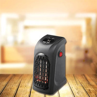 Wholesale warm air blower - Miniature Electric Handy Heater Portable Wall Outlet Warm Air Blower Room Fan Radiator Warmer EU UK Plug Convenient And Practical 45wn Y