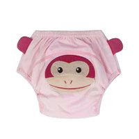 Wholesale baby training diapers resale online - Breathable Baby Training Diaper Underpant Brief Lovely Layers Cartoon Washable Reusable Baby Diaper Infants Nappies