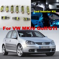 Wholesale interior led lights for cars - WLJH 12x White Crystal blue Canbus Car Interior LED light lighting Kit For Volkswagen GOLF MKIV MK4 GTI 337 20ae R32 1999-2005