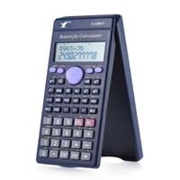 mostradores de oficina al por mayor-Scientific Calculator Mini Calculator Counter 240 Funciones 2 Line LCD Display Business Office School Student SAT