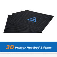 ingrosso parti della stampante 3d i3-5 pz / lotto 3d parte stampante fai da te 310 * 310 * 0.5mm hotbed foglio di carta adesivo per Wanhao i3 anet a8 a6 stampante 3d costruire superficie del piatto