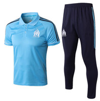 Wholesale polo football for sale - 2017 Marseille Soccer POLO shirt Adult kits L GUSTAVO Maillot de Foot Payet football KIT Olympique de Marseille POPLO SHIRT SET