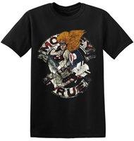 siyah kaya tişört toptan satış-Motley Crue Tee Gömlek Serin Retro Bant Siyah Klasik Rock Band Tişörtlü 1-A-087 Baskı T-Shirt Erkekler