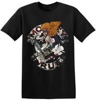 ingrosso le t-shirt di rock band-Motley Crue Tee Shirt Cool Retro Band Nero Classic Rock Band T Shirt 1-A-087 Stampa T-Shirts Uomo