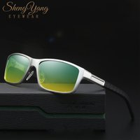 Wholesale drivers safety resale online - SHENGYANG Men Polaroid Sunglasses Day Night Vision Driving Classic Rectangle Sunglasses Male UV400 Driver Safety Goggles W8554