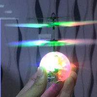 Wholesale remote fly ball resale online - Flying Helicopter Ball Infrared Induction Suspension Crystal Sphere RC Fly Toys LED Light Remote Control Aerocraft For Kids Gift yd UU