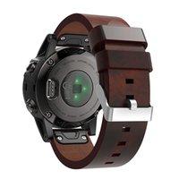 ingrosso tool gps-Cinturino dell'orologio di ricambio in pelle di lusso 2018 con strumenti per l'orologio GPS Garmin Fenix 5 con comodo strumento # 0126