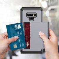 ingrosso armor wallet-Custodia per cellulare Slot per vendita al dettaglio per Samsung Galaxy Note 9 S9 Plus Custodia per PC in TPU per S7 S8 Edge Plus Wallet