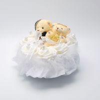ingrosso anelli di nozze di musica-2019 FEIS hotsale romantico due orsi a forma di cuore bianco rosa anello musicale anello casella cuscino accessorio da sposa