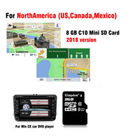 Wholesale canada car stereo - 2018 GPS Map card for WinCE car dvd navigation car radio stereo for USA United States Canada Mexico