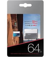 sdxc 16gb toptan satış-2018 Yeni PRO Seç Mikro SDXC UHS-I Kartı 128 GB 64 GB 32 GB 16 GB Sınıf 10 U3 Mikro SD TF Kart Adaptörü ile Daha Hızlı Hızları