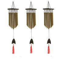 çanlar süslüyor toptan satış-Sanat Ve El Sanatları Metal Rüzgar Çanları Yaratıcı Hediye Ev Mobilya Süslemeleri Antika Açık Oturma Yard Windchimes Tüpler Bells 20 ...