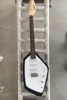 белый тюнер оптовых-Rare VOX Mark V Teardrop Phantom Black Solid Body Electric Guitar 3 Одиночные пистолеты для катушек, Tremolo Tailpiece, Vintage White Kluson тюнеры