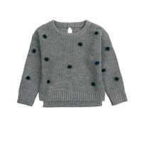 ingrosso giallo ragazzi in tartaruga-Le ragazze puntano il maglione all'uncinetto le ragazze appena nate Knit Pullovers Primavera Autunno Bambini Maglieria Top Abbigliamento infantile BC345
