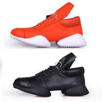 avrupa'da çizmeler toptan satış-2018 Ro At Nalı hakiki deri dantel Avrupa istasyonu Gelgit marka sonbahar ve kış düşük ayakkabı rahat artan ağır dipli yüksek-üst çizme