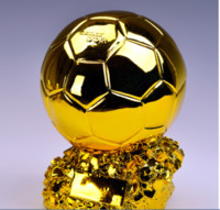Wholesale football soccer trophy for sale - Group buy Football Champion Trophy Titan Cup Golden Ball Soccer Fan Cheerleading Souvenirs Resin Craft Keepsake Trophies