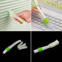 Wholesale computer pc windows for sale - Group buy 1 New Double Ended Car Vent Brush Computer Mini Dust Cleaner Window Air Con Brush Car Cleaning Tool