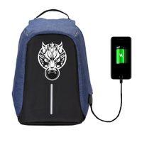 Wholesale male fantasies - Game Final Fantasy backpack USB Charge Anti Theft Notebook Backpack Waterproof School Bags Teenage Male Laptop 8 style