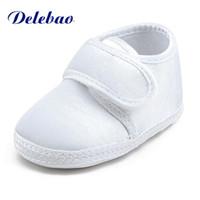 schuhe taufe taufe großhandel-Reinweiß Die Taufe Der Schuhe Heiligen Winkel Weiche Sohle Baumwolle Babyschuhe Für 0-15 Monate Neugeborenen Taufe