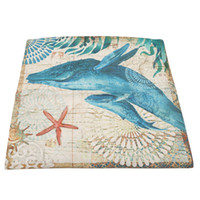 ingrosso tessili moderni-Nuovo arrivo Sea Animal Stampa Pillow Case 45x44cm Semplice Lino Copricuscino Home Decorating Modern Home Textile Living 971395