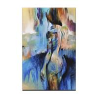 peintures corporelles nues achat en gros de-Peinture abstraite moderne Mur Art photo à la main femmes nues peinture à l'huile sur toile à la main nue beauté corps peintures à l'huile