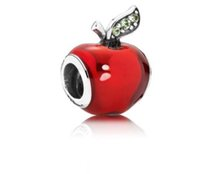 Wholesale apple pandora charms for sale - Fit Pandora Charm Bracelet European Silver Charms Christmas Red Apple Enamel Beads DIY Snake Chain For Women Bangle Necklace Jewelry Xmas