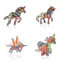 pernos de la joyería del caballo al por mayor-Animal de la historieta Broche de acrílico Multistyle Animal Horse Suit Pin de solapa para mujeres Niñas Accesorios de joyería de moda