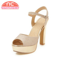 Wholesale high heels size 32 - wholesale Size 32-43 Women Sandals 5 Colors High Heel Lace Up Platfrom Open Toe Women Summer Shoes Sexy For Party Footwear