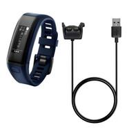 usb-datenuhr großhandel-NEUE USB Power Charger Kabel für Garmin vivosmart HR Schnelllade Dock 1m Datenkabel für Garmin VIVOSMART HR + Ansatz X10 X40 Uhr