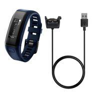 mini dok şarj cihazı toptan satış-YENI USB Güç Şarj Kablosu Garmin vivosmart İK için Hızlı Şarj Dock 1 m Veri Kablosu için Garmin VIVOSMART HR + Yaklaşım X10 X40 Izle