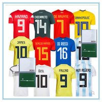 Wholesale germany wholesale - 2018 Mexico CHICHARITO MBAPPE GRIEZMANN Spain ISCO Argentina MESSI RONALDO Colombia james Germany Ozil Mueller soccer jerseys
