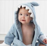 plaj kıyafeti çocuklar toptan satış-20 Tasarımlar Kapşonlu havlu Hayvan modelleme Bebek Bornoz / Karikatür Bebek Spa Havlu / Karakter çocuklar banyo bornoz / bebek plaj havlusu